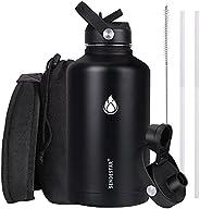 SENDESTAR Water Bottle 32 oz 40 oz Double Wall Vacuum Insulated Leak Proof Stainless Steel Sports Water Bottle