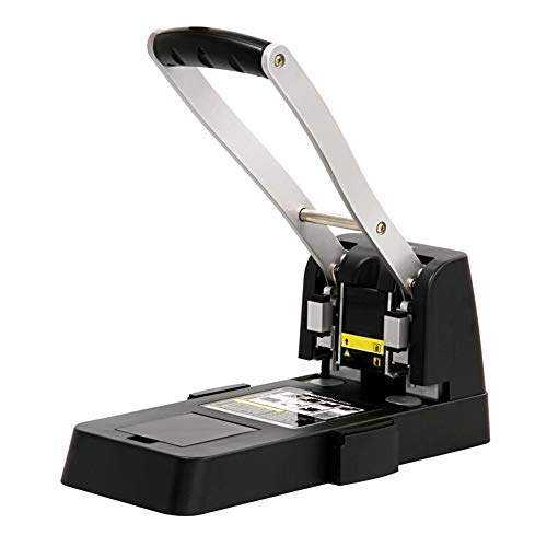 Aiyawear Hole Punch Office Equipment Paper Puncher Document Binding Machine Manual Labor-Saving Punching Machine Hole Puncher (Color : Black, Size : One Size)