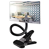 Clip On Security Mirror, Elisona Flexible Clip on Computer Desk Cubicle Security Rearview Field Vision Magnifying Convex Mirror for Office Personal Privacy Safety Rectangle