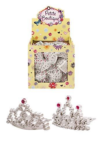 - Rimi Hanger Womens Rhinestone Mini Tiara Comb 2 Assorted Ladies Fancy Party Wedding Bride Plastic Jewelry Accessory One Size (4.7 cm)