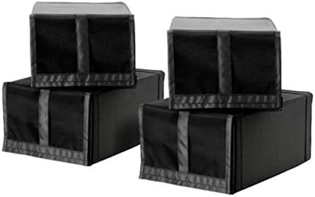 IKEA Skubb 103.000.36 - Caja de zapatos (4 unidades), color negro: Amazon.es: Hogar