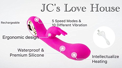 EPOCH Cordless Waterproof Multi Speed Body Wand Massager Rechargeable Portable Personal Electric Massager for Woman Muscle Aches and Sport Recovery (Pink) by JC Professional Women's massager (Image #8)