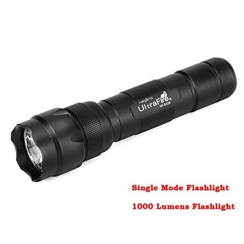 (Ultrafire wf-502b Flashlight Tactical Flashlight 502B 1000 Lumens Single Mode EDC Emergency Flashlight 18650 Flashlight Bright LED Light 502b Portable Torch)