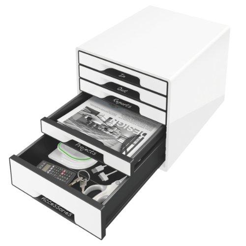 Leitz 52531001 Schubladenbox (Cube (Cube (Cube 5, Schubladen) weiß B01LZ4MT12   Hohe Qualität und günstig  8ac4eb