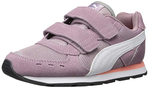 PUMA Girls' Vista V Sneaker Elderberry-White 7 M US Toddler ()