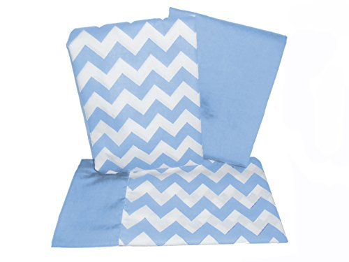 Baby Doll Bedding Chevron Pillowcase and Sheet set for Crib and Toddler bed, Blue from BabyDoll Bedding