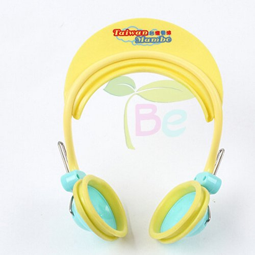 Children Earmuff Shampoo Bath Bathing Shower Cap Hat Wash Hair Shield for Baby Boys Girls (yellow)