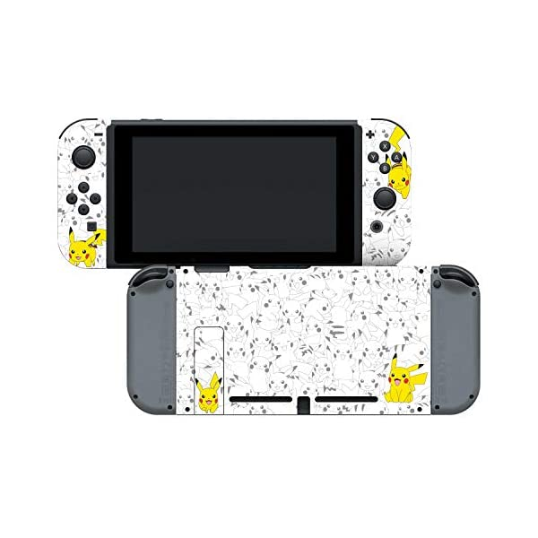 "Controller Gear Officially Licensed Nintendo Pokémon Switch Console Skin ""Pikachu Set 2"" 6"