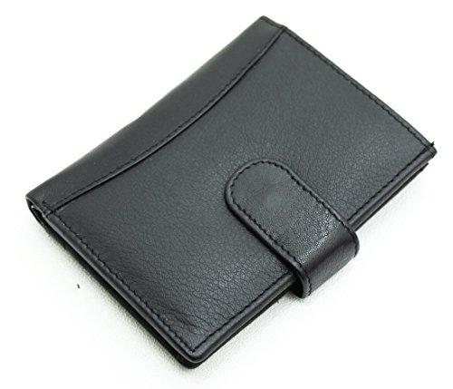 Billet Plastique En Carte Black 601 Crédit Souple avec Poches Pour Autres Noir De Cuir Ras® Véritable Transparent 20 4 Fentes Portefeuille Banque Cartes Compartiment AqwARF