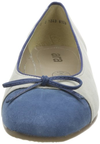 ara Bari 12-43708 Damen Ballerinas Blau (inkablau,kiesel)