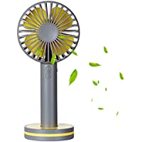 Levitom Mini Handheld Fan, (3-speed) Portable Electric Fan with Gust Function, USB Rechargeable, Magnetic Base and Mini Makeup Mirror, Cooling for Travel, Home and Office