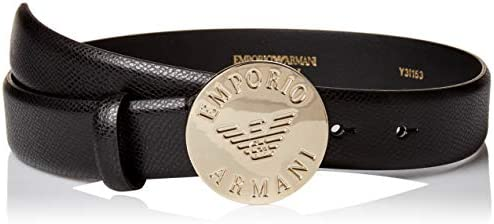 Emporio Armani Women`s Leather BeltBuckle Detail