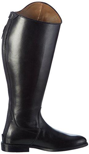 HKM pelle stivali da equitazione Italy Soft Uomo, Corta/lontano nero