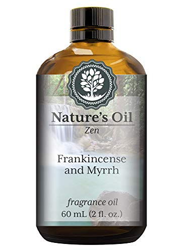 Frankincense and Myrrh Fragrance Oil (60ml) For Diffusers, Soap Making, Candles, Lotion, Home Scents, Linen Spray, Bath Bombs, Slime (Oriental Unscented Candle)