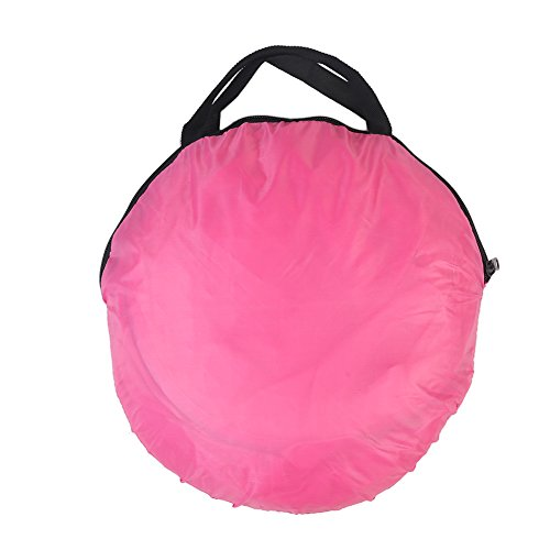 Portable Folding Children's six-sided tent Ball Pit Outdoor Indoor Children Game Play Toys Tent House , Pink Playhouse Tent for Girls Boys Zipper Storage Tote Bag , Ocean Ball Not Included. (red)