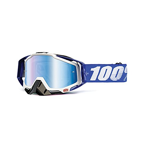100% unisex-adult Goggle (Cobalt/Mirror Blue,One Size) (RACECRAFT RC COB BlueE Mirror Lens - Sunglasses Percent 100