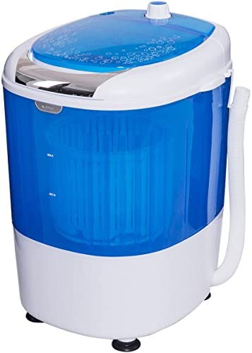 TAVLAR 5.5lbs Portable Mini Counter Top Washing Machine Spin basket Laundry Washer