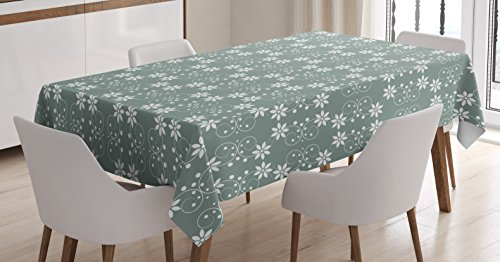 Ambesonne Garden Tablecloth, Artistic Baroque Style Inspired