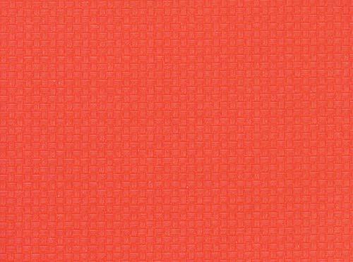 (Mini Basket Weave Vinyl Flannel Back Tablecloth (Sunset Orange, 52