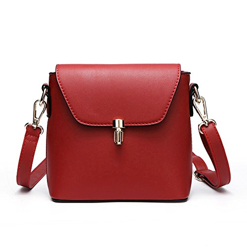 La Crossbody Mujer De Para BAILIANG De Casual PU Hombro Bolso Del Bolso Red Mini Fashion Simple z1wwxqYgv
