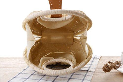 Encantador Casual Style Bolso 04 Basket Bag Bag Rattan ST039 Shell Totes Personalizado Weaving Natural Mujeres Tejidas Straw TqqHIO