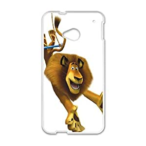 HTC One M7 Cell Phone Case White Madagascar Phone Case Cover Hard DIY XPDSUNTR20378