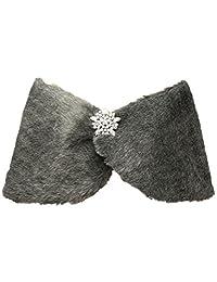 Belle House Faux Fur Shawl Wrap Stole Cape for Women