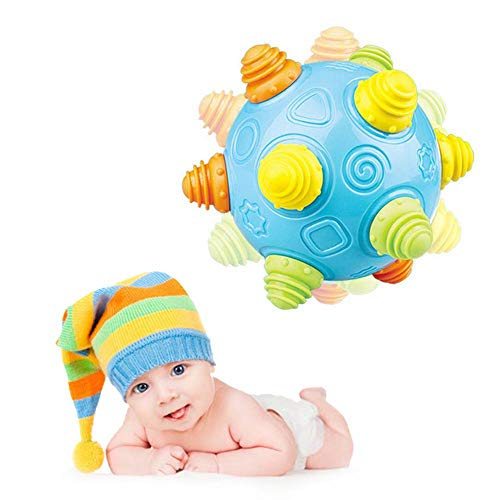Baby Music Shake Dancing Ball Toy,KOBWA Bouncing Sensory Developmental Ball for Boys and Girls-Baby Kids Interactive Electronic Toy with Personality and Emotions,Gifts for Kids Fun (Operated Battery Ball Bouncy)