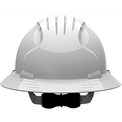 Safety Works Pro Hard Hat, Vented, White, 6-Point Wheel Ratchet Suspension