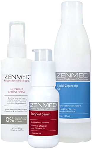 Redness Relief for Oily Skin by ZENMED, Natural Acne Rosacea Anti Redness Treatment