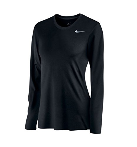 Nike Women's Long Sleeve Legend Shirt, Black, Medium - Long Sleeve Running Top