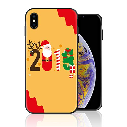 Silicone Case for iPhone Xs, Creative 2018 Christmas Design Printed Phone Case Full Body Protection Shockproof Anti-Scratch Drop Protection Cover ()
