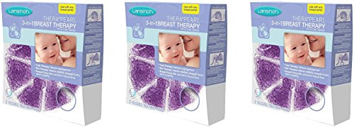 (3 x Lansinoh TheraPearl 3 in 1 Breast Therapy 2 ea)
