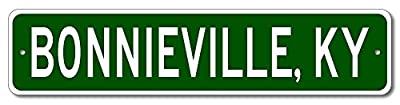 Custom Aluminum Sign BONNIEVILLE, KENTUCKY US City and State Name Sign