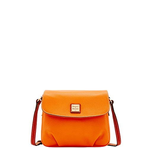 Bag Bourke Flap Shoulder amp; Pebble Dooney Orange Crossbody Oxwfgcq