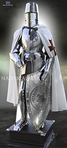 NAUTICALMART Knight Templar Suit of Armor Medieval Scottish Plate (Knights Of Templar Costume)