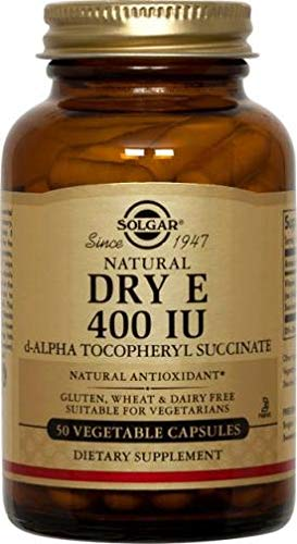 Solgar Vitamina E Seca 268 mg (400 UI) Cápsulas vegetales - Envase de 50