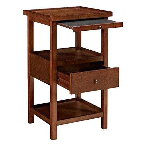 Powell Furniture 16A8255CH Palmer Cherry Table with Shelf Side, Small (Cherry Kitchen Powell)
