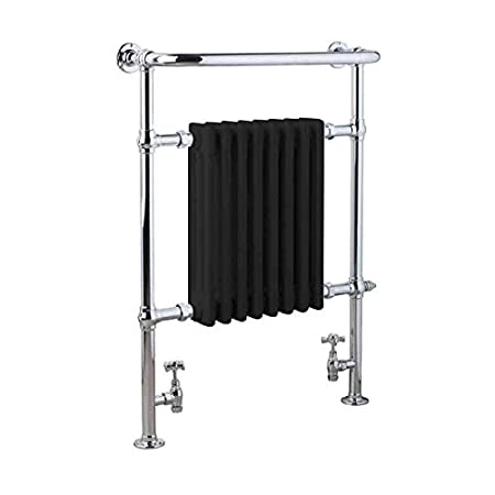 Kitchen Central Heating And Electric For Bathroom 540 Black Ramsey Traditional Victorian Dual Fuel Heated Towel Rail And Column Radiator