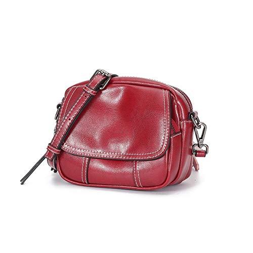 ciré rouge cuir Wild Vintage Sac en bandoulière Tassel SZfpwq