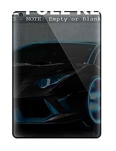 Flexible Tpu Back Case Cover For Ipad Air - Black Tron Sport Car