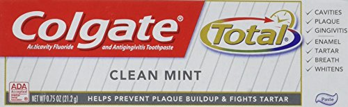 Colgate Total Toothpaste Clean Mint 0.75 oz (Pack of ()