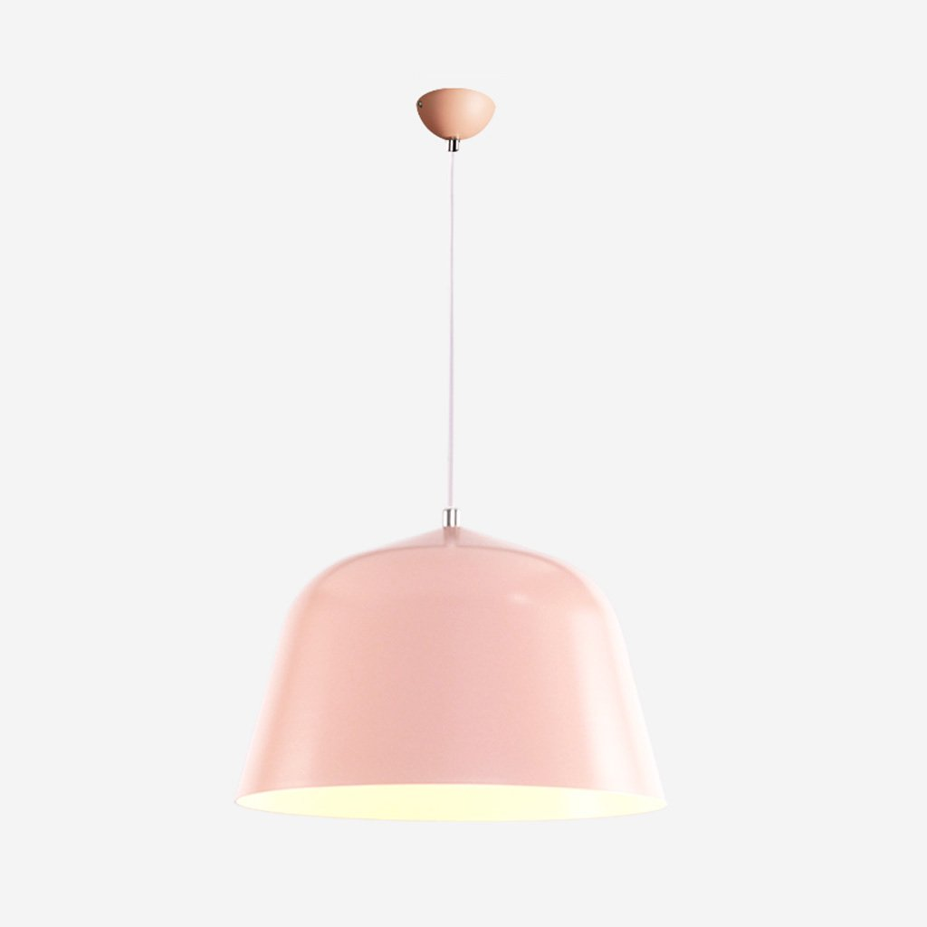 Post-modern minimalist color aluminum chandelier restaurant bar A+ ( Color : Pink , Size : S )