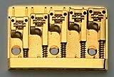 Schaller 5-String Bass Bridge Gold Adj. 2-17/32''-2-3/4'' Allparts BB-0322-002