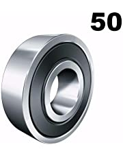 Fifty (50) 608-2RS 8x22x7 Precision Double Shielded Greased Ball Bearings 608 RS