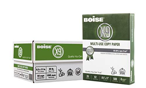 Boise Paper X-9 Multi-Use Copy Paper – 3 Ream (1,500 Sheets)   8.5″ x 11″ Letter   92 Bright White – 20 lb.
