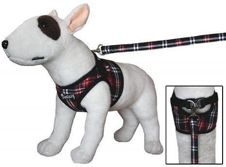 Cómodo arnés del perro negro rojo escocés chalecos Vajilla para ...