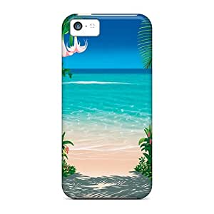 Cute Appearance Cover/tpu MWTrBDr6344GuMRu Lovers Trail Case For Iphone 5c