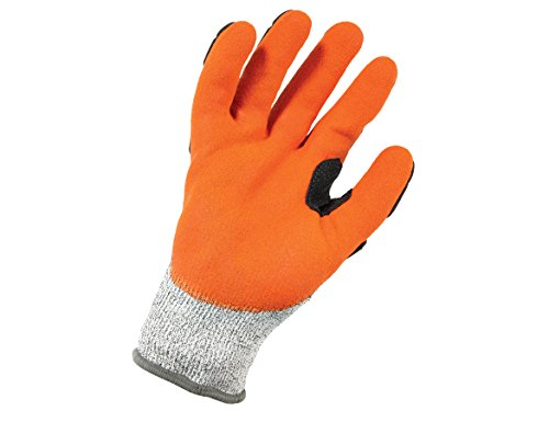 Ergodyne ProFlex 922CR Level 5 Cut Resistant Nitrile-Dipped Work Gloves, Large, Gray