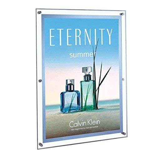 - Lightmaster LED Light Poster Frame Edgelit 24 x 36 inch Crystal Wall Mounted Display for Advertising